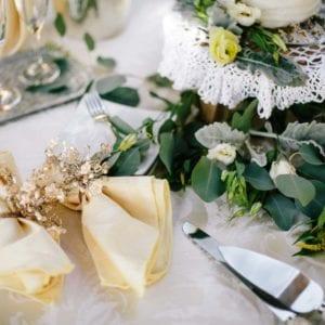 wedding cake and table