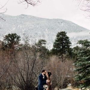 outdoor wedding in winter