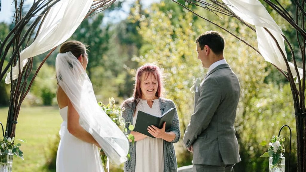 Couple gets married in one of the elopement packages.