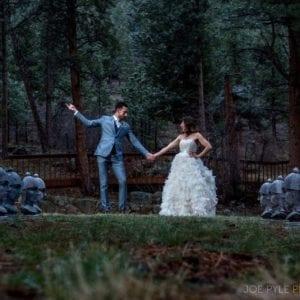 wedding couple at Romantic RiverSong