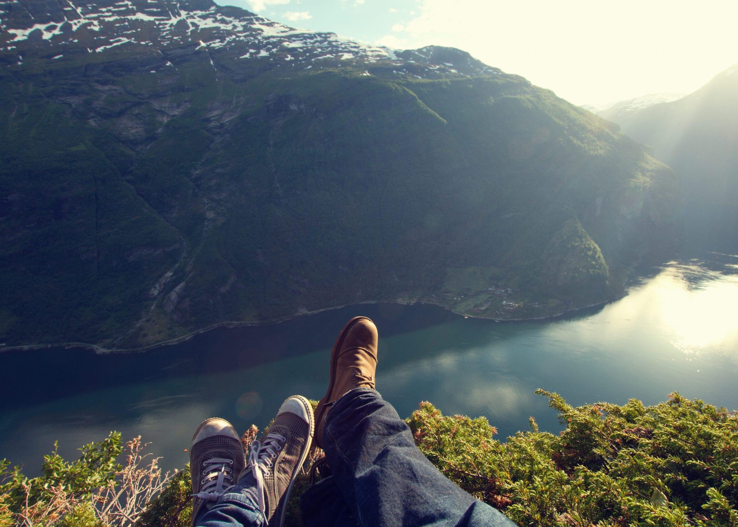 Couple enjoying the landscape
