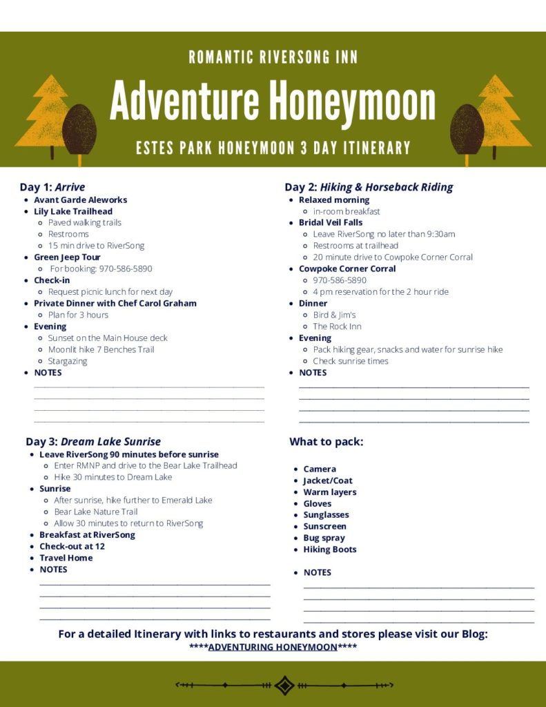 Adventure Honeymoon