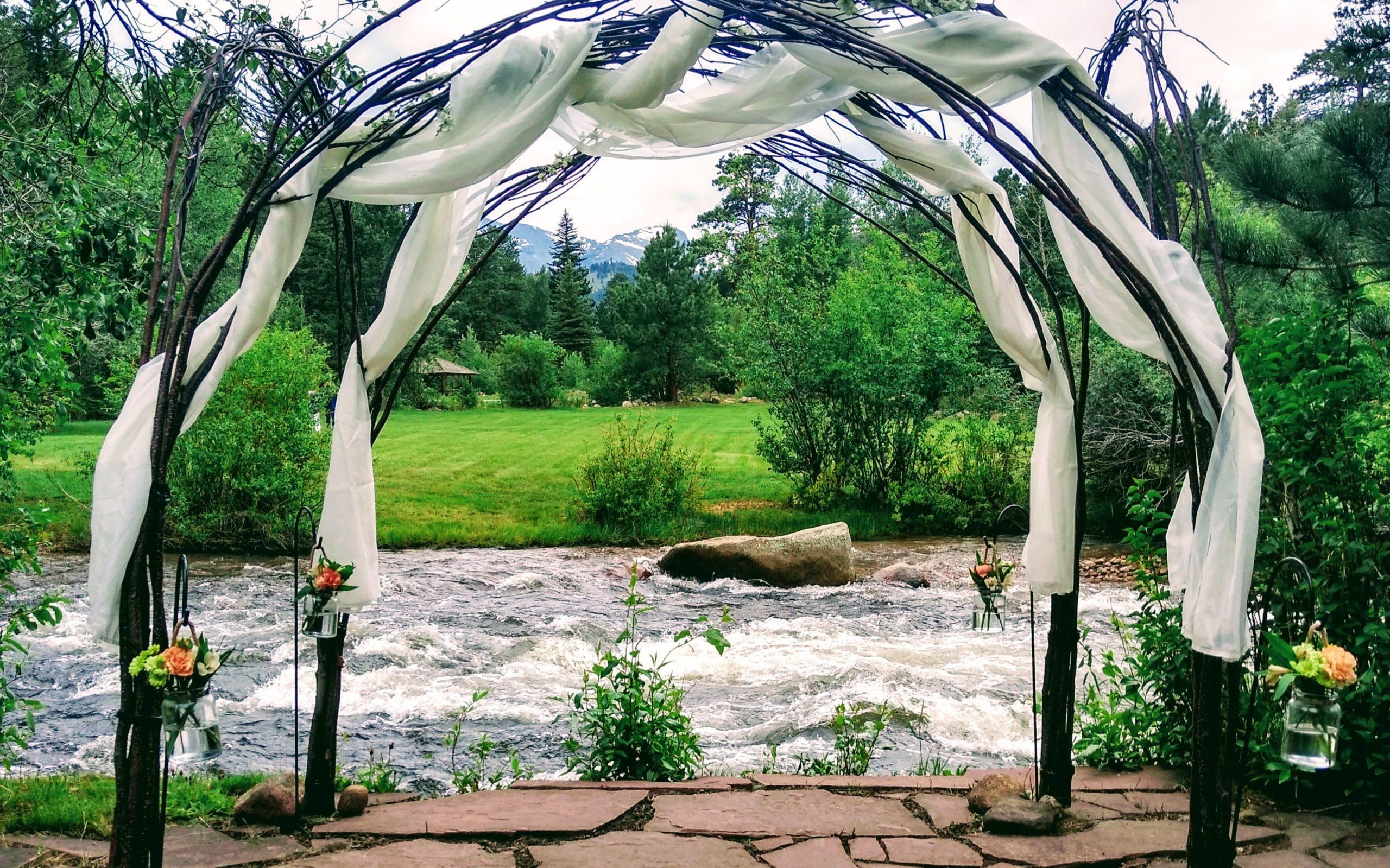 outdoor wedding canopy
